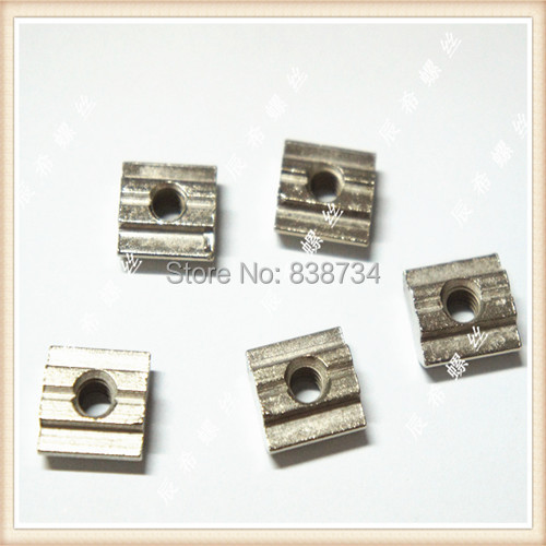 50pcs low price steel with sliver nickel plated 30 series m5 slide nut
