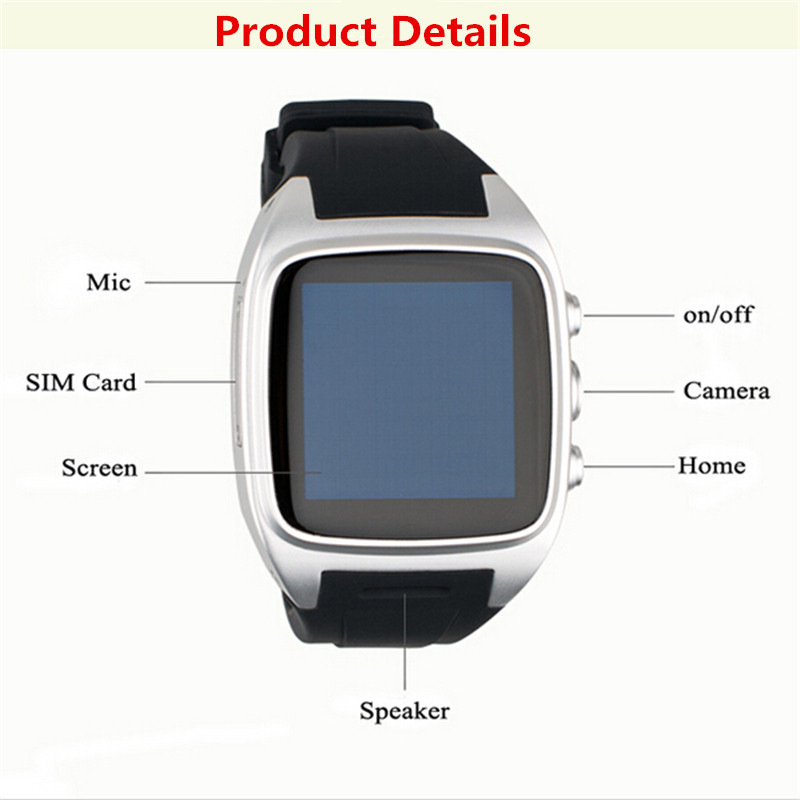 Android smart watch x01 x1 1.5 inç 240*240 ips bluetooth gps + 3g + wifi + gprs ile smartwatch bluetooth android telefon için izle
